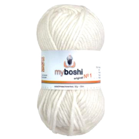 White 191 - Wool Balls 50g For DMC Myboshi Beanie Hats